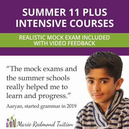 2021 summer 11 Plus intensive courses for Buckinghamshire and Berkshire